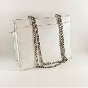Calvin Klein Leather Chain Strap Shoulder Bag